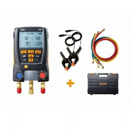 Testo 550 Digital Refrigeration Manifold Set 0563 2551